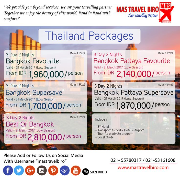 Thailand Pacakges , Choose the packages and feel free to contact us ;) #mastravelbiro #pakettourmurah #thailand #tourthailand