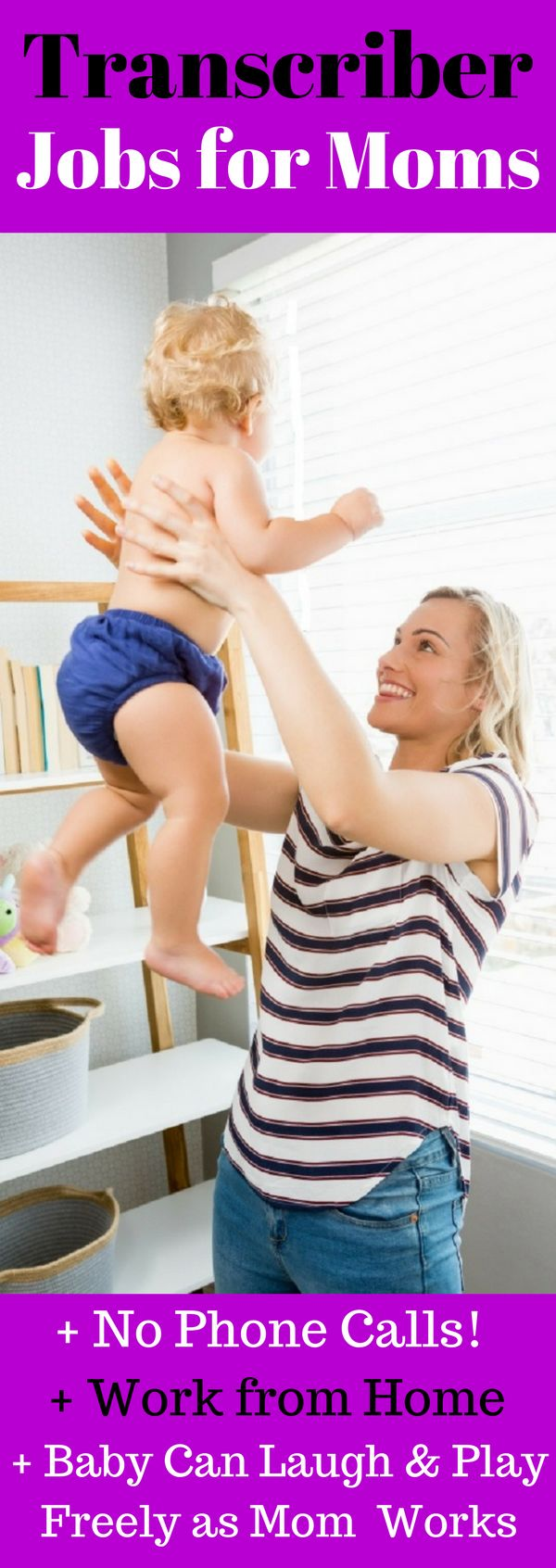 Non-Phone Work from Home Jobs. Non-Phone Work from Home Jobs for Stay at Home Moms and Dads. Be FREE and FLEXIBLE at Home and Still Make Extra Money. This is the Best Non-Phone, Transcriber or Transcription Job for Stay at Home Moms and Dads