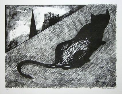 Night Cat by Charles Blackman