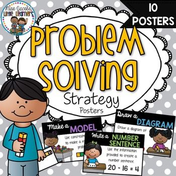 Problem Solving Strategy Posters:Problem solving strategies are essential skills to teach in math.