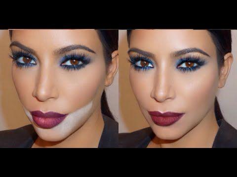 Kim Kardashian Blue Smokey Eye + Red Lip | Mario Dedivanovic Makeup Tutorial - YouTube
