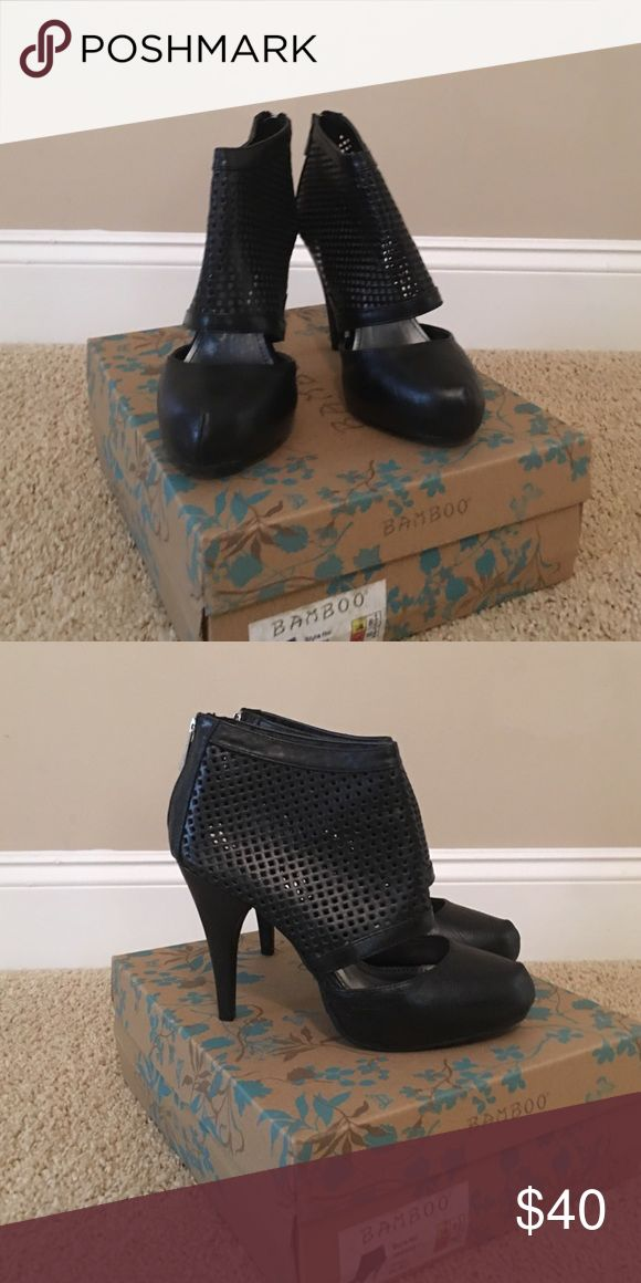 Bamboo High Hill shoes Bamboo Black High Hill shoes brand new in a box in size 6.5 bamboo Shoes Ankle Boots & Booties
