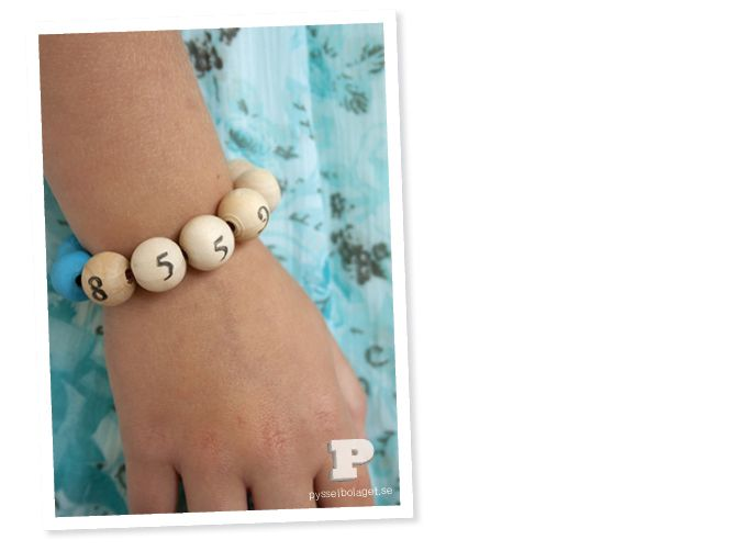 Create a Phone Bracelet and your children will always have their phone number on them!