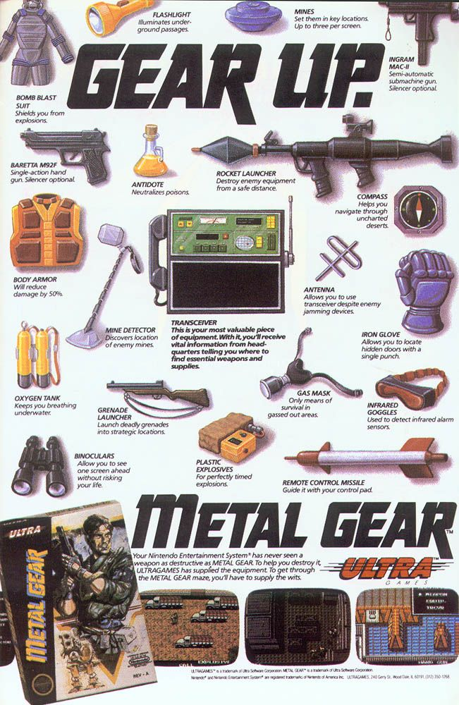 Nostalgic Video Game Magazine Cover Art - Is that Metal Gear I spy?!