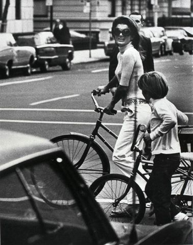 Jackie O with her son John in New York City. #NYC