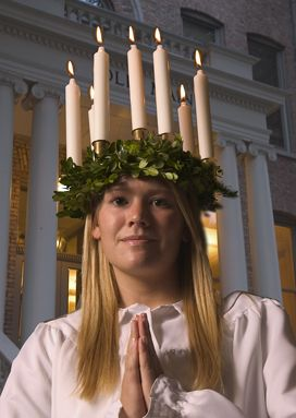 Santa Lucia... a Swedish/Danish tradition I have celebrated since I was young as have my daughter...