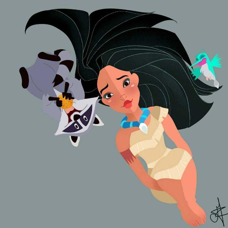 Princesas Disney com seus pets   Just Lia