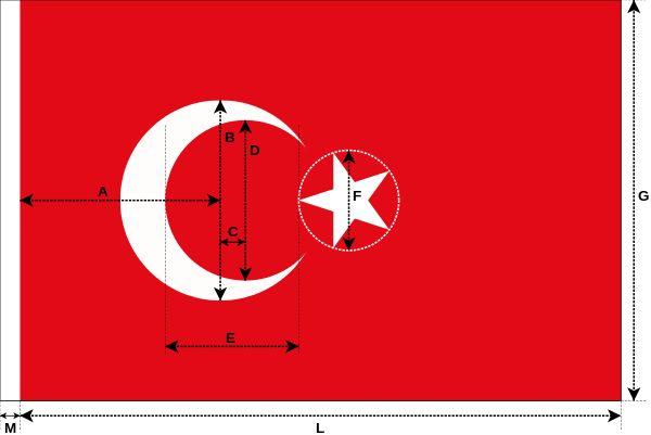 Turkey flag construction.svg