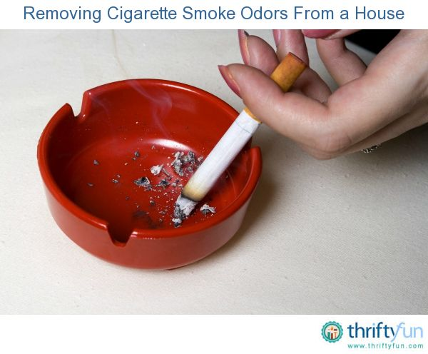 This guide is about removing cigarette smoke odors from a house. The smell of cigarette smoke is strong, and often lingers in a home...which can be unpleasant even to smokers such as myself.