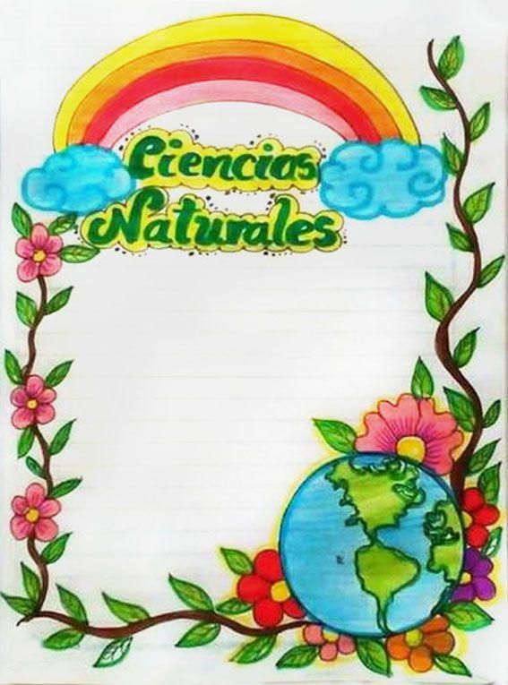 Caratula Para Ciencias Naturales Book Cover Diy Clip Art Borders Disney Princess Coloring Pages