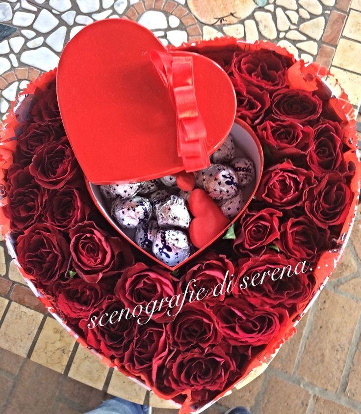 San Valentino  #sanvalentino  Amore  Rose  Scatola di rose