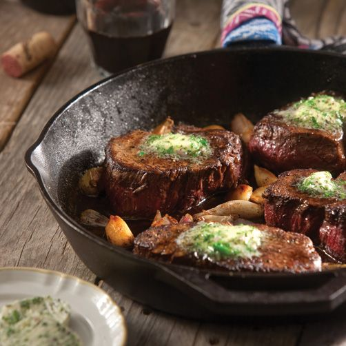 Skillet Steak with Herb Compound Butter- Taste of the South Magazine