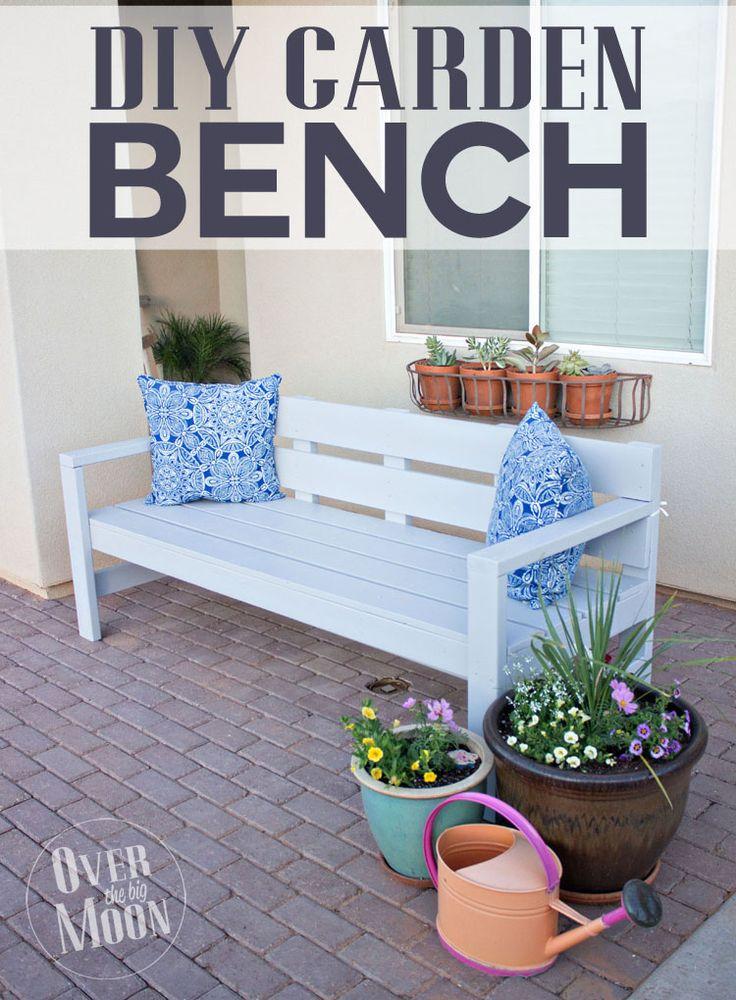 282 best garden diy furniture images on pinterest backyard diy front porch bench solutioingenieria Image collections