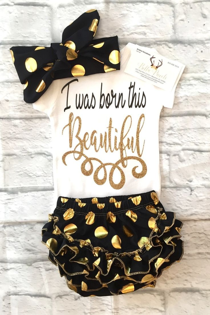 Baby Girl Clothes, I Was Born This Beautiful Bodysuit, I Was Born This Beautiful Onesie, Born Beautiful Shirts, Baby Girl Baby Shower Gifts, Beautiful Onesies - BellaPiccoli