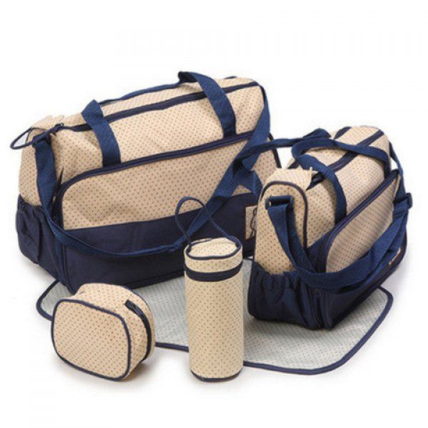 $28.88 Casual Color Matching and Bear Cub Design Women's Diaper Bag