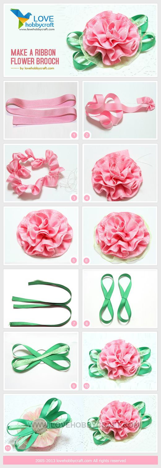 Ribbon flower - link is to bead supply store but I can't find this project…