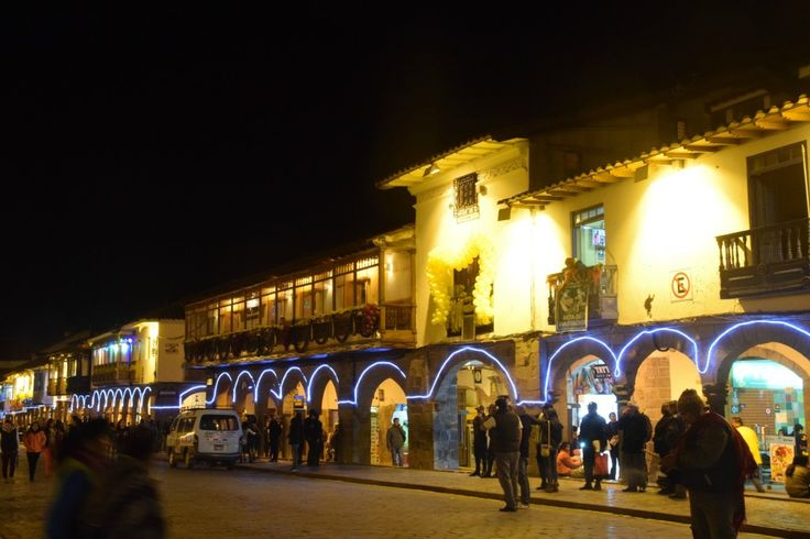 The main square in Cusco, Peru. A great destination for families with kids