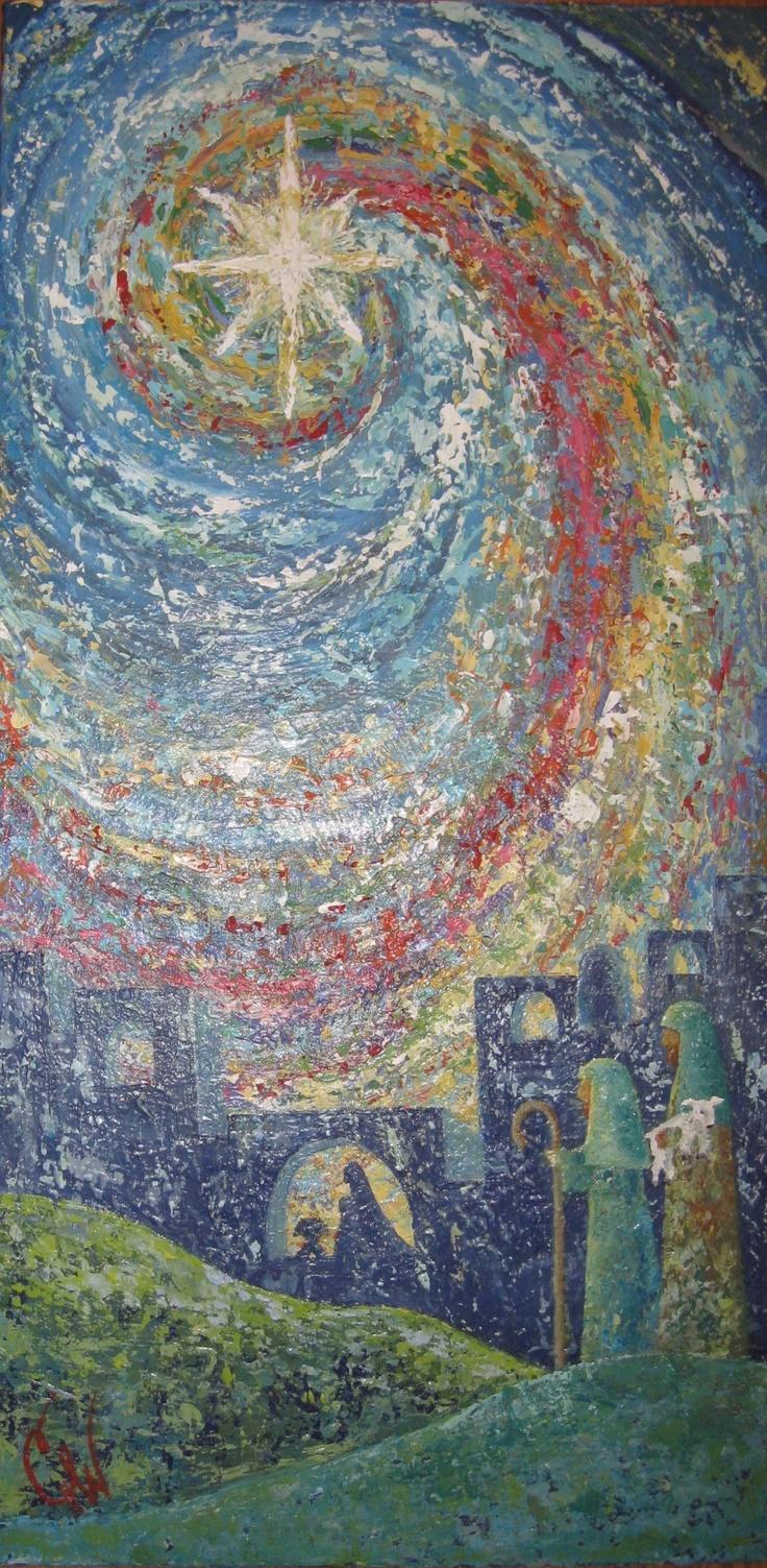 "Beautiful Star, Acrylic on Canvas by Cheryl Harris White, $500 24"" X 48"""