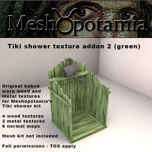 Meshopotamia Tiki shower texture addon 2 (green)