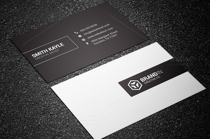 Minimal Black & White Business Card - Business Cards - 1