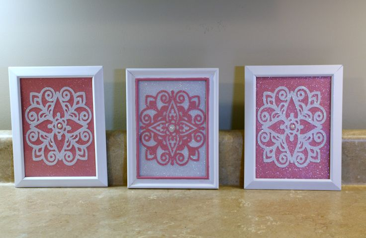 Wall Decor With Cricut : Cricut paper lace wall art in dollar tree frames cards i