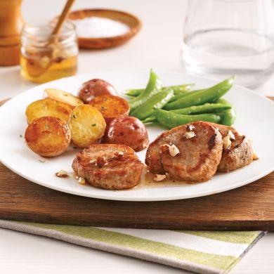 Médaillons de porc au miel et noisettes - Recettes - Cuisine et nutrition - Pratico Pratique