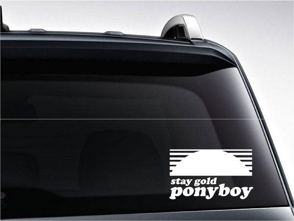 Stay Gold Vinyl Decal #outsiders #ponyboy #pony