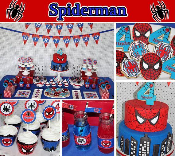 Spiderman druckbare Wasserflasche Etiketten DIY alle sehen die Bilder aus unserer SPIDERMAN-PARTY zu unseren Blog-Eintrag hier gehen möchten: http://cupcakeexpressinc.com/blog/2014/09/haydens-spiderman-party/ Sie erhalten die SPIDERMAN inspiriert druckbare Wasserflasche Etiketten nur im Pdf-Format. Jeder Aufkleber ist 8,5 in X 2 Zoll erhalten Sie die Entwürfe so wie im Bild gezeigt. Es gibt 5 Etiketten pro Blatt. KEINE ARTIKEL WERDEN VERSENDET! (sie erha...