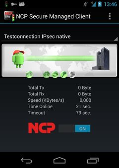 NCP Secure VPN Client for Android
