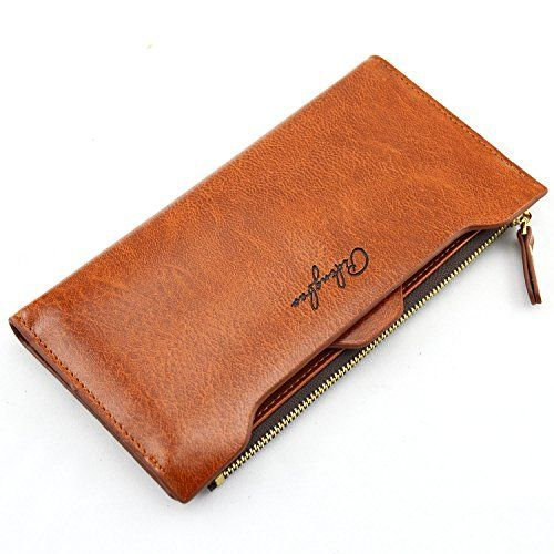 New Trending Purses: Pidengbao Womens Long Solid Zipper Hasp Clutch Wallet Dark Coffee. Pidengbao Women's Long Solid Zipper Hasp Clutch Wallet Dark Coffee  Special Offer: $9.99  188 Reviews Zipper and Hasp open,with a removable Card bits.The zipper bag can hold a phone.More than ten card positions,Solid color.Dark Coffee ColorFaux LeatherHasp and Zipper open,Zipper...