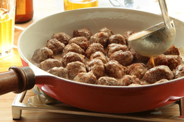 Swedish Meatballs - The genius of Swedish meatballs is their small size and their versatility. They can be served as an appetizer, as part of a smorgasbord, or as a main dish.
