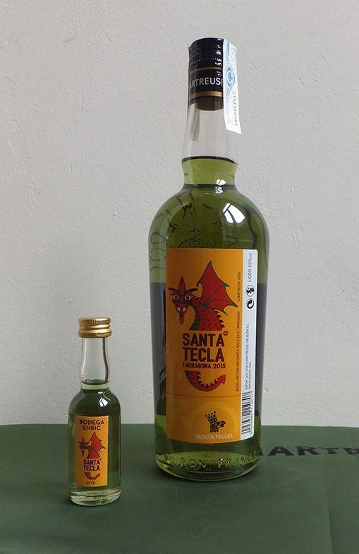 Cuvée Santa Tecla 2015 de #Chartreuse Verte  et sa mignonnette ! #Tarragona