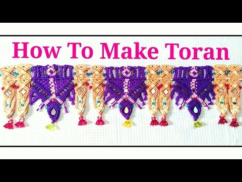 How To Make ||Macrame Toran || in 4 Color With|| Waste Macrame [design 3rd] - YouTube