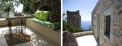 Traditional holiday home rental in Mani Peloponese Greece- interesting design architecture