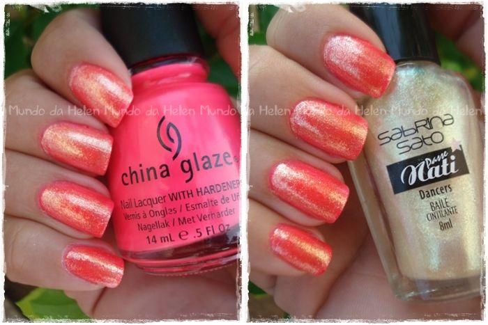 Flip Flop Fantasy + Baile - China Glaze + Passe Nati http://wp.me/p1x69g-1jK