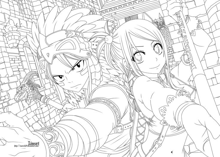 64 best Lineart: Fairy-Tail (Anime) images on Pinterest | Feeschwanz ...