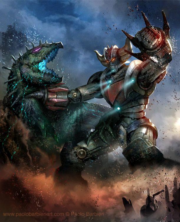 """Tribute to PACIFIC RIM & GOLDRAKE: """"Jaegers"""" Grendizer vs """"Kaiju"""" Giru Giru"""