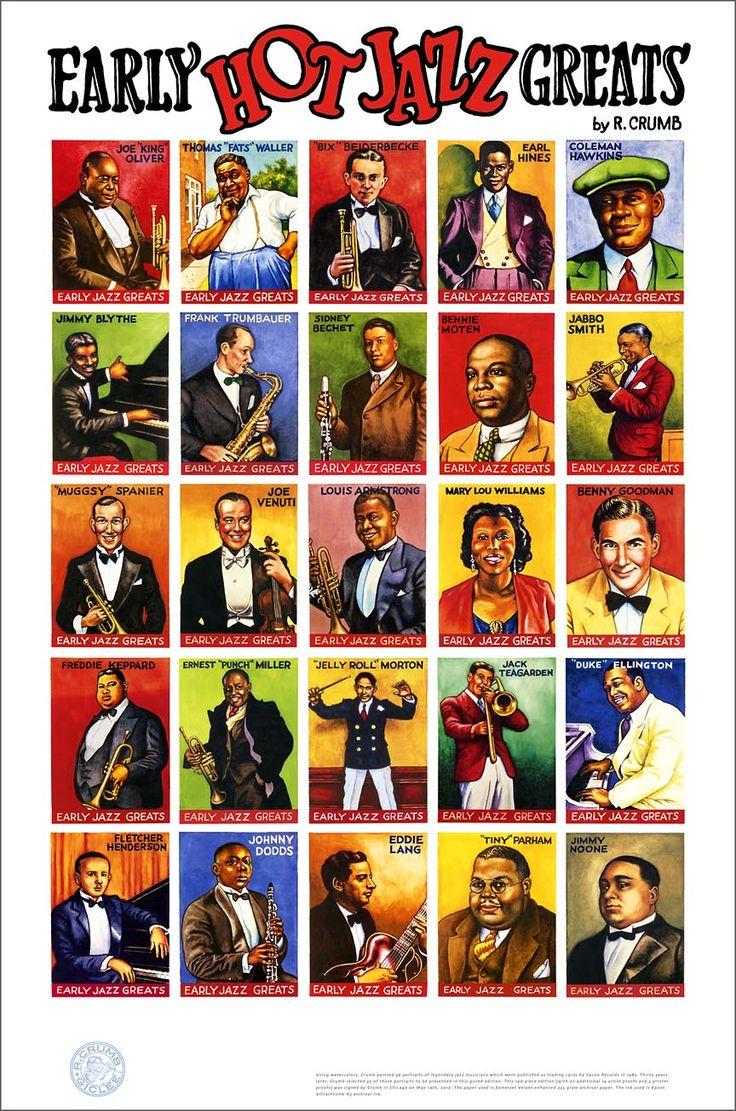 Resultado de imagem para jazz greats poster