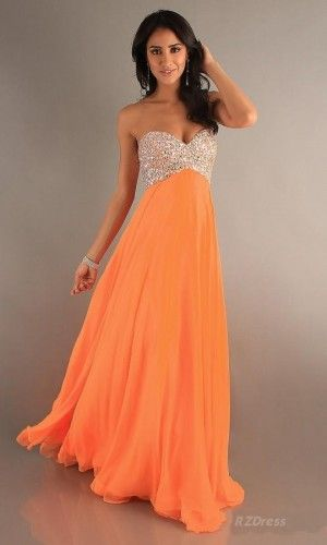 "Orange Prom Dress!  ""Trendy, Unique and Affordable"" - That is the main philosophy at Bling Boutique in Milford, MI!  Stop by our store to find some fashionable items that will spice up your wardrobe!  Visit www.downtownbling.com or call (248)  685-8449 for more information!"