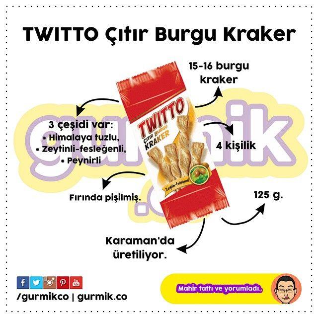 Şimşek Bisküvi'nin yeni kraker atılımı: #Twitto. Adını Twitter'dan alan ürün, Karaman'da üretiliyor. Ürünün kırılmaması için plastik kap kullanılmış. Paket içeriğinde 15-16 burgu kraker var. Aslında...