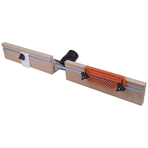The Deluxe Router Table Fence Kit works on any table top with a center mount router plate system. The solid MDF backer boards have Mini T-track built in for mounting and placing featherboards and stop...