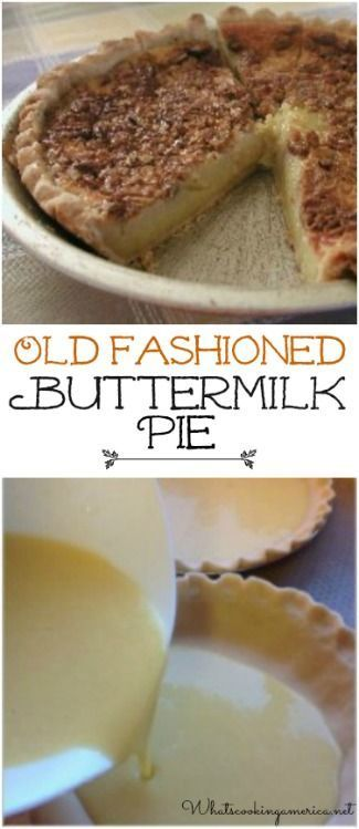 Old Fashioned Buttermilk Pie Recipe  |