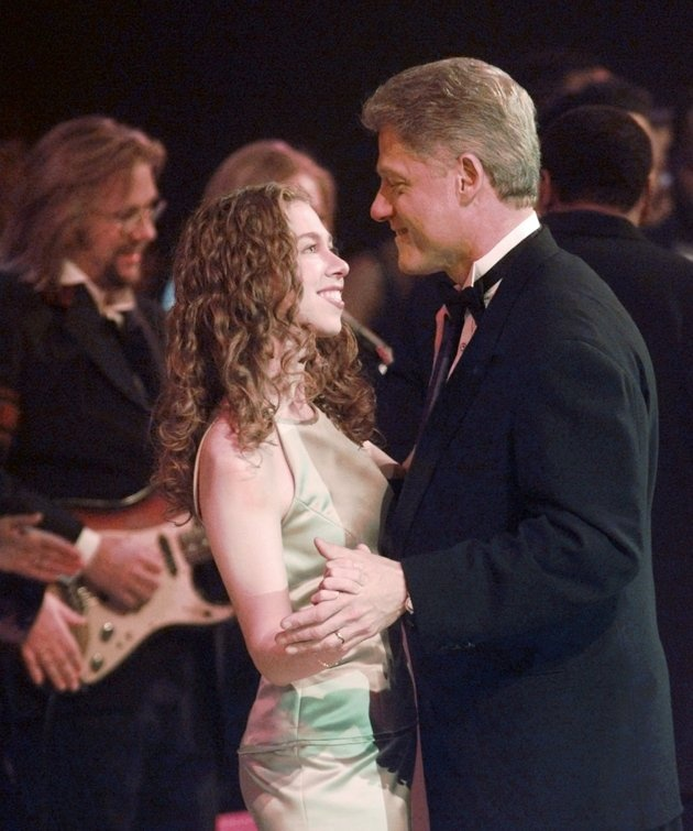 President Clinton and his daughter Chelsea dance at the Arkansas Inaugural Ball in celebration of the 53rd Presidential Inauguration Monday night, Jan. 20, 1997, in Washington.