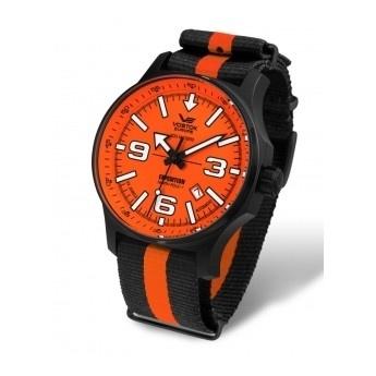 ¡Siénte diferente con este reloj naranja marca Vostok! Colección: Expedition North Pole  http://www.tutunca.es/reloj-nylon-rayas-naranja-negro-vostok-north-pole-manual