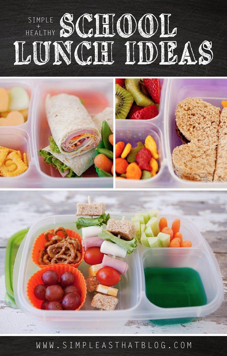 A week of Simple + Healthy school lunch ideas. #backtoschool #lunches