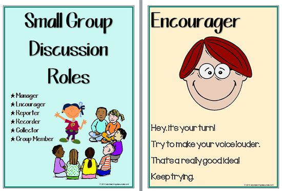 Small Group Discussion Roles Charts