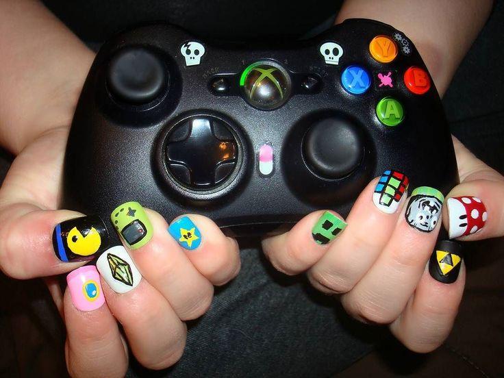 nintendo nail art