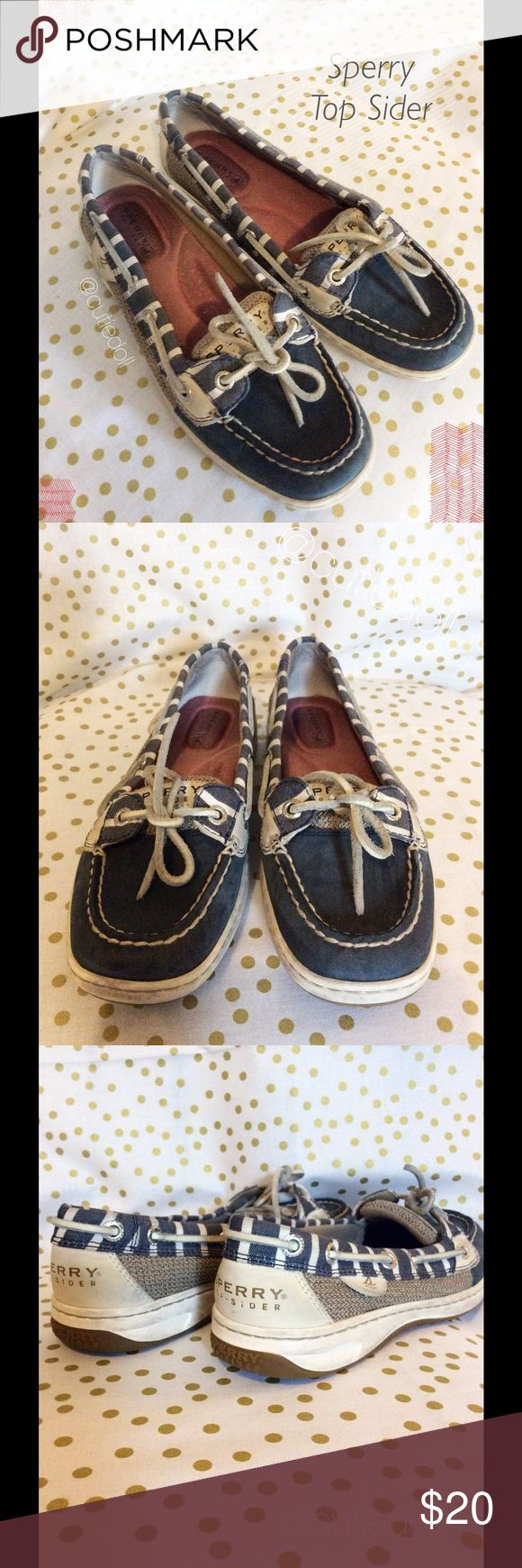 ❣️NEW ARRIVAL❣️✨Sperry Top Sider Boat Shoes✨ Ladies Sperry Top Siders.🔸light blemishes inside  and out🔸lots of soft cushion inside🔸color: deep indigo blue/ linen white / pink inside 🔸leather and canvas🔸size: 5.5 🌟 I accept REASONABLE offers ✨ 💠 You receive %15 off 2+ bundles 💕 💫 Next day shipper 💫 ❌ No Trades ❌  HAPPY POSHING 🍹🛍 Sperry Top-Sider Shoes Sneakers