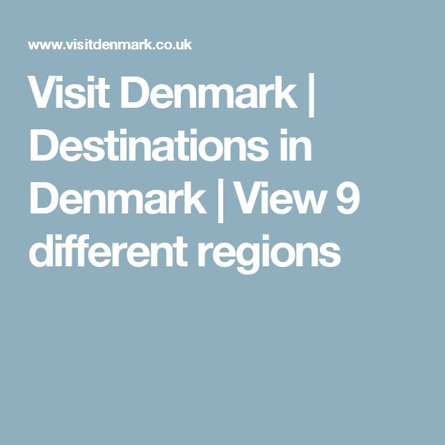 Visit Denmark | Destinations in Denmark | View 9 different regions