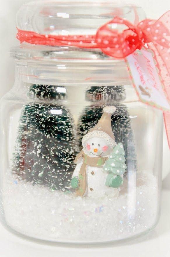 DIY de Noël avec des bocaux de récup *
